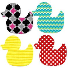 Duck iron on applique DIY by patternoldies on Etsy, $3.99