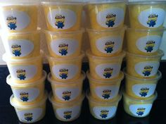 Dispicable Me Cotton Candy tubs by TheCandyBarn on Etsy, $33.00