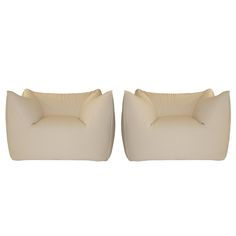 Pair of armchairs by Mario Bellini | From a unique collection of antique and modern club chairs at http://www.1stdibs.com/furniture/seating/club-chairs/