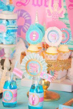 NUTCRACKER Birthday- Winter Birthday Party- Printables- Snowflake- Nutcracker BOTTLE LABEL- Ballerina Party Winter Birthday Parties, Holiday Parties, Birthday Cupcakes, 3rd Birthday, Birthday Ideas, Ballerina Party, Baby Ballerina, Ice Cream Party, Diy Party