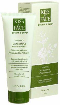 Kiss My Face Organics - Start Up Exfoliating Face Wash, 4-Ounce Tubes (Pack of 3) by Kiss My Face