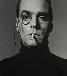 andrewharlow:  Jeremy Irons With Monokel, London, 1990, photographed by Michel Comte