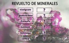 Revuelto de minerales. Juego de palabras