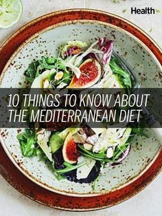10 Things to Know About the Mediterranean Diet: At this point, you probably already know that the Mediterranean diet is good for your health. Research proves over and over again that people who put an emphasis on produce, fish, whole grains, and healthy fats not only weigh less, but also have a decreased risk for heart disease, depression, and dementia. So what are you waiting for? Here are the basics | Health.com