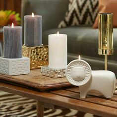 Glam up your space with Jonathan Adler for Partylite designs Contact me at www.biz/debywhalen for more information. Jonathan Adler, Candle Accessories, Home Decor Accessories, Candels, Pillar Candles, Candle Pics, Partylite, Candle In The Wind, Own Home