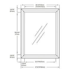 Bathroom Mirror Dimensions afina corporation rm-620-cr 24 in.radiance tilt brackets round