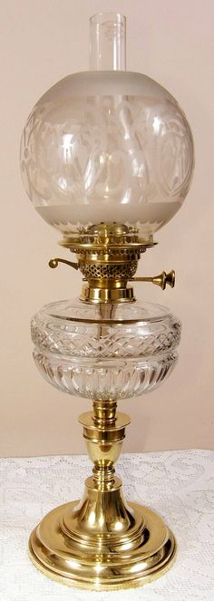 These are SO beautiful. My grandmother had an oil lamp with a round etched glass shade very similar to this one from her mother in law.