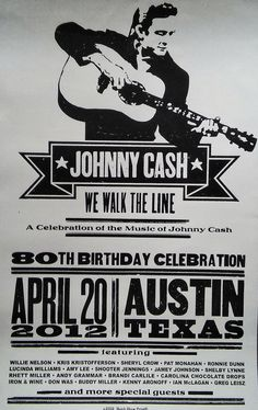 Poster art for Johnny Cash. Festival Posters, Concert Posters, John Cash, Kris Kristofferson, Jesus Painting, Sheryl Crow, Willie Nelson, Clint Eastwood, Vintage Country