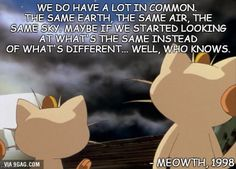 Inspiring words from meowth