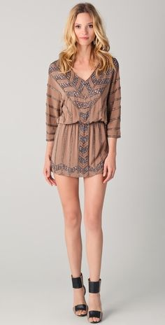 the ankle strap elevate this Haute Hippie Sequin V Neck Dress