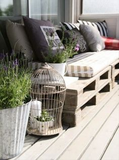 diy pallet patio furniture - Google Search