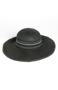 Eye-catching ribbon trim lends a sophisticated flourish to a wide-brimmed sun hat.  Paper straw. By Nordstrom