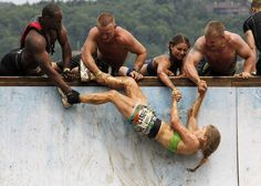 tough mudder endurance test wounded warrior project.  badass picture for so many reasons.