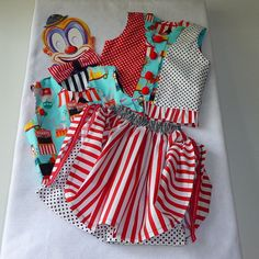 Circus Ringmaster/Clown Girl's Costume Skorts by TwinsFromOz, $95.00