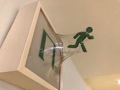 This emergency exit sign.