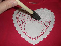 DIY shirt for Valentine's Day.