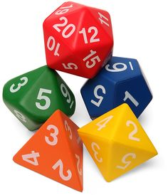 Giant Foam Polyhedral Dice for some serious live action D (or Magic the Gathering!)