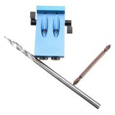 รีบเป็นเจ้าของ  Mini Kreg Style Pocket Hole Jig Kit System For Wood Working &Joinery With Step Drilling Bit & Accessories - intl  ราคาเพียง  1,350 บาท  เท่านั้น คุณสมบัติ มีดังนี้ Color: Blue Use:Wood Drilling Specification:20x12x8cm DIY Supplies:Woodworking Material: Aluminum 6061 Surface treatment: anodized
