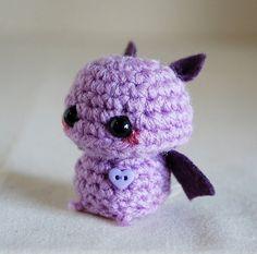 Mini Amigurumi Purple Fledermaus Kawaii von twistyfishies auf Etsy