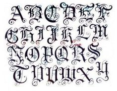 Best representation descriptions: Old English Tattoo Letter Fonts Alphabet Related searches: Names Tattoo Lettering Styles,Name Tattoo Desi. Graffiti Alphabet, Gotisches Alphabet, Fonte Alphabet, Gothic Alphabet, Tattoo Fonts Alphabet, Monogram Alphabet, Calligraphy Alphabet, Calligraphy Fonts, Fancy Fonts Alphabet