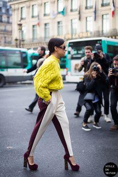Paris Fashion Week FW 2014 Street Style: Miroslava Duma