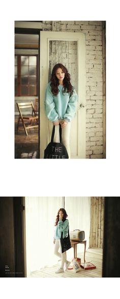 soft green fake fur jersey# korean fashion # kpop  ♥ GG's Tiny Times ♥