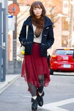 Excellent - chiffon handkerchief skirt over tights with boots