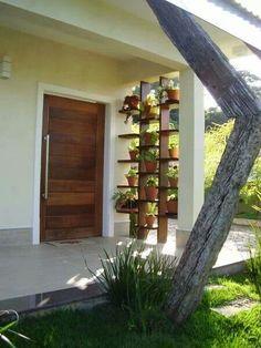 Me encantan las plantas y la puerta