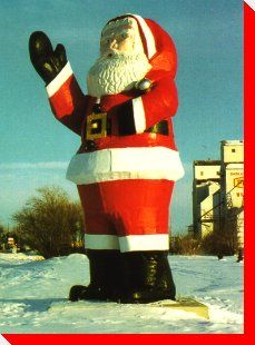 Watson, Saskatchewan - home of the first Santa Claus Day O Canada, Canada Travel, Christmas And New Year, Vintage Christmas, Trans Canada Highway, Discover Canada, Sidewalk Art, Statues, Roadside Attractions