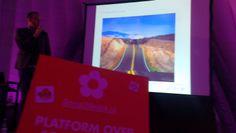 Event #festivak met eigen SocialMedia.nl keynote zaal in de Jaarbeurs Utrecht met spreker Dennis Rijntjes