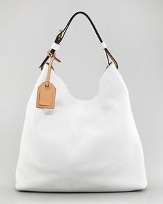$1490 New REED KRAKOFF Standard Napa leather Cross-Body Hobo Bag, cream White