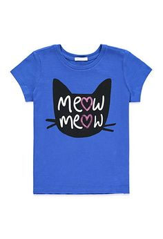 Meow Graphic Tee (Kids) | Forever 21 girls - 2000161608