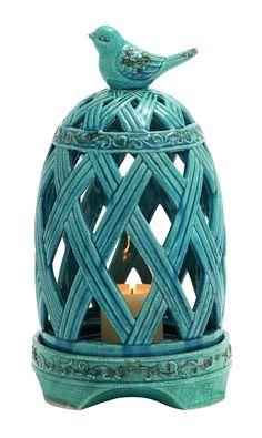 Ceramic Birdcage Candle Holder