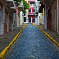 puerto rico old san juan - taste of the old world. Gorgeous brick road