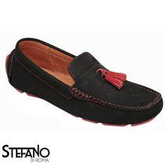 Mocasin Negro Marcus M00077 | Asi es, el Mocasin Negro Marcus tiene un modelo divertido, pero lo grandioso de estos zapatos, es que tienen colores que los hacen