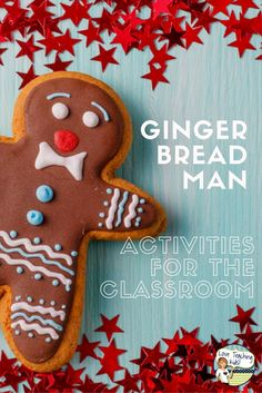 These Gingerbread Man ideas are great to do around Christmas and the winter holidays with your kids in your classroom. Make your own Gingerbread Man ornament, science experiment with the cookie, and a free writing printable you can do with your students.