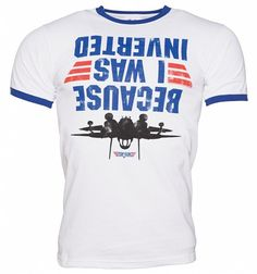 Men's Top Gun Because I Was Inverted Ringer T-Shirt