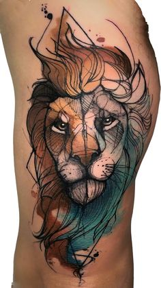 Lion Tattoo 71669 70 Female and Male Lion Tattoos Lion Tribal, Tribal Lion Tattoo, Lion Tattoo Design, Tattoo Designs, Leo Lion Tattoos, Mens Lion Tattoo, Top Tattoos, Head Tattoos, Cute Tattoos