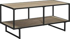 "Give your television a worthy stand with the Ameriwood Home Emmett TV Stand/Coffee Table with Metal Frame. Boasting a lower shelf to hold DVDs, games and entertainment components, the slender top can accommodate a 42"" flat paneled TV weighing up to 50 lbs. Because of the sleek lines, brown oak f... more details available at https://furniture.bestselleroutlets.com/living-room-furniture/tables/coffee-tables/product-review-for-ameriwood-home-emmett-tv-stand-coffee-table-for-tv"