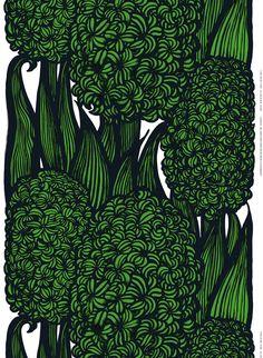 Marimekko Hyasintti heavyweight cotton fabric
