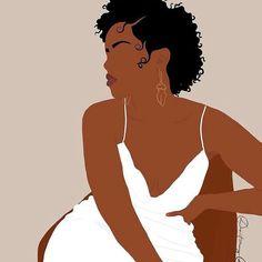Black Love Art, Black Girl Art, Black Girl Magic, Art Girl, Black Pic, Black Art Painting, Black Artwork, Black Aesthetic Wallpaper, Black Girl Aesthetic