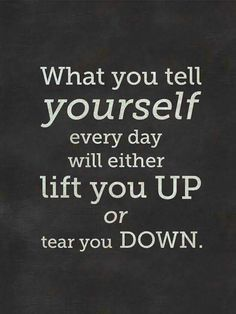 I choose to lift myself up