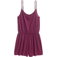 Jersey Jumpsuit $12.99 ($13) ❤ liked on Polyvore featuring jumpsuits, short jumpsuits, purple jersey, jersey jumpsuit, jump suit and purple jumpsuit