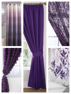 Purple house and shower curtains!! (: