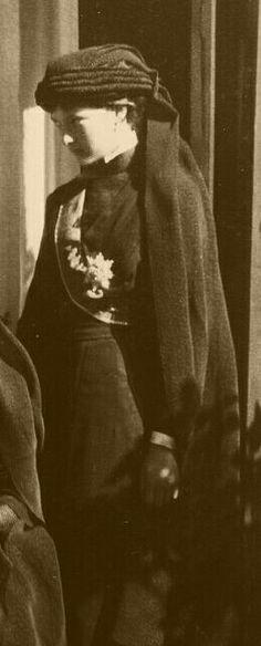 "Grand Duchess Tatiana Nikolaevna Romanova of Russia on the occasion of the Grand Duke Konstantin Konstantinovich Romanov of Russia's funeral. ""AL"""