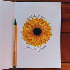 Eu amei o resultado 🌻 🌻 🌻 🌻 🌻 🌻 🌻 🌻 🌻 🌻 #Draw #stabilo #Desenho #girassol #sunflowers #arte #art #criação #tatoo #sketchbook #GirassolDesenho  #tatoo #ideiasparatatoo #tatuagem Sunflower Sketches, Sunflower Drawing, Sunflower Art, Tattoo Sketches, Art Sketches, Inspiration Art, Arte Sketchbook, Flower Tattoos, Doodle Art