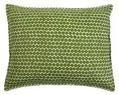 14 X 18 Green Beans Beads Wheat Linen Pillow - Hable Construction