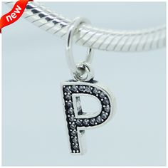 Compatible with Pandora Jewelry bracelets 100% 925 Sterling Silver Beads Letter P Dangle Fashion Charms CKK #Affiliate