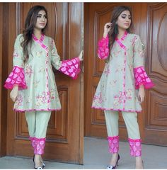 Girls Dresses Sewing, Stylish Dresses For Girls, Stylish Dress Designs, Dresses Kids Girl, Simple Dresses, Beautiful Pakistani Dresses, Pakistani Dresses Casual, Pakistani Dress Design, Pakistani Bridal