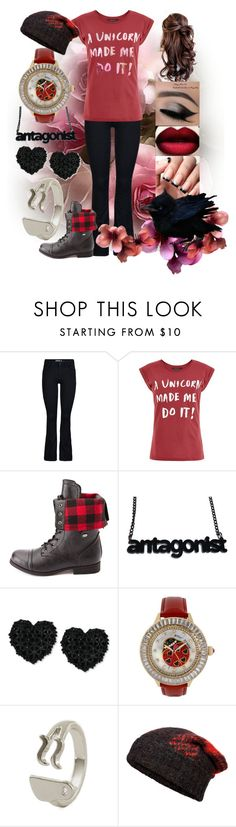 """""""Unicorn's Are Dicks"""" by questions3 ❤ liked on Polyvore featuring ONLY, Charlotte Russe, Betsey Johnson and rag & bone"""